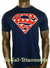 SUPERMAN S Men's T-Shirt Red White Blue, Stars, Size Small DC Comics, NWT