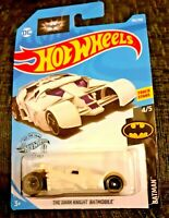 MATTEL Hot Wheels  THE DARK KNIGHT BATMOBILE  White version Brand New Sealed Box