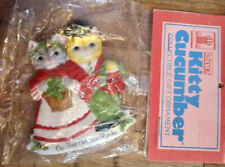 Kitty Cucumber Our First Christmas Ornament Schmid Vintage 1987
