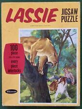 ☆Excellent☆ 1966 Vintage Lassie 100 Piece Jigsaw Puzzle, Complete!