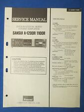SANSUI A-1200 A-1100R SERVICE MANUAL ORIGINAL FACTORY ISSUE THE REAL THING
