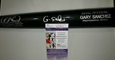 Gary Sanchez NY Yankees Autographed Signed Engraved Bat Auth by JSA # P73809