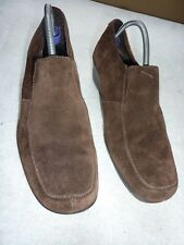 FOOTGLOVE SIZE 6/39 SOFT BROWN SUEDE CASUAL SHOES WITH WEDGE HEEL