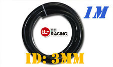 "3mm 1/8"" 0.12"" Silicone Vacuum Tube Hose Tubing Pipe 3.3ft 1M 1 Meter Black"