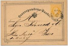 Österreich 1874 2kr Korr-Karte von KIRCHBERG/a.d PILACH (Nö) Kl:40P! Nach WIEN