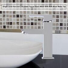 Waschbecken Waschtischarmatur Wasserhahn Chrom Badarmatur Einhand Set  DE WO