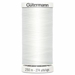 2 x Gutermann Sew-All Thread: 250m: White (800)