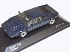 1/43 Minichamps BMW M1 1street in Blue from 1979