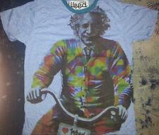 Men T Shirt short sleeve 100 % cotton Albert Einstein Funny t Sure Weed New M