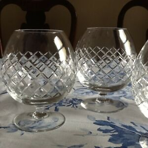 Brandy Glasses 1 Pair of  Extra large cut crystal balloons