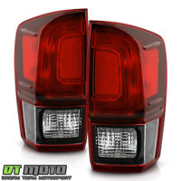 For 2016-2020 Toyota Tacoma Dark Red Tail Lights Brake Lamps Pair Set Left+Right