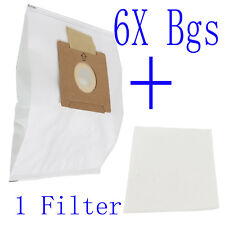 6X Synthetic Dust Bags Fits Wertheim W2000 Cat & Dog Vacuum Cleaner GERMOSTADT