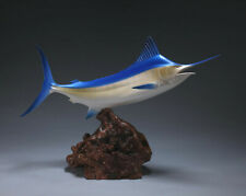Marlin Sculpture New Direct from John Perry Statue Airbrushed 17in long