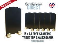 A4 chalk board/handheld table top pub menu black board pack of 6 (A4-NH)