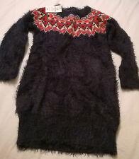 BNWT GAP 4-5 years navy blue fairisle knitted dress incl 1% mohair soft feel