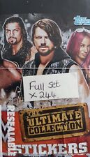 WWE THE ULTIMATE COLLECTION, FULL SET X244 STICKERS +ALBUM