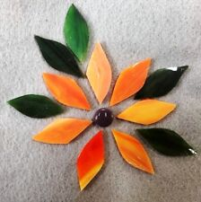 Small Early Sunrise Flower for Mosaic with handcut Petals, 13 pieces.