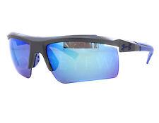 NEW Under Armour Core 2.0 Satin Carbon / Blue Sunglasses