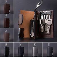 Men Genuine Leather Key Bag Portable Car Keys Holder Keychain Wallet Purse Case