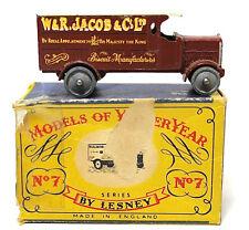 Lesney Models Of Yesteryear 4 Ton Leyland W&R Jacob & Co LTD # 7 Vintage Diecast