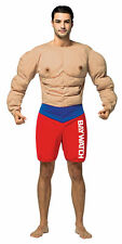 Baywatch Muscles Suit Lifeguard Adult Costume Red & Blue Shorts Rasta Imposta