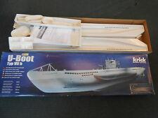 U-Boot Type VIIb, 1/60 scale by Krick, rc submarine model kit in box, U-boat