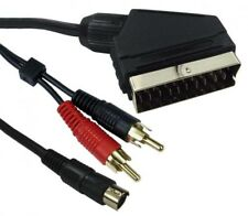 SCART to SVIDEO SVHS S-VHS S-Video Lead Video DVD PC  TV Audio & Vision Cable 1m