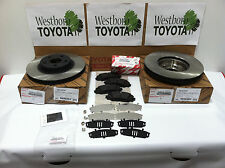 Toyota Corolla & Matrix 2009-2013 Genuine OEM Front Brake Rotors Pad Kit & Shims
