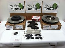 Toyota Corolla & Matrix 2009-2013 Genuine OEM Front Brake Rotors Pad Kit & Shims