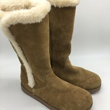 Womens Brown Snow Boots, Size 9.0