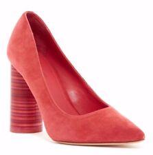 NIB $275 Pour La Victoire Cece Dress Suede Pump Heels Flame Coral Size 9