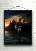 Harry Potter Deathly Hallows Castle Poster or Canvas Art Print Maxi A1 A2 A3 A4