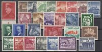 G3314/ GERMANY REICH – 1940 / 1941 MINT SEMI MODERN LOT – CV 260 $