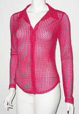 Lace Collared Fitted Long Sleeve Women's Tops & Shirts