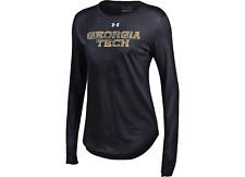 Georgia Tech Yellow Jackets Under Armour Heatgear Gray SS Golf Polo T-Shirt (L)