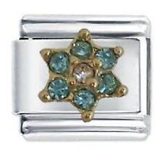 MARCH FLOWER BIRTHSTONE -Daisy Charm Fits Classic Size Italian Charms Bracelet