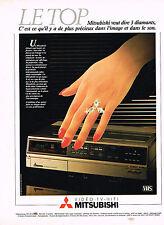 PUBLICITE ADVERTISING  1982   MITSUBISHI   magnétoscope