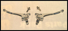 "TRIUMPH NORTON BSA QUALITY CHROME 7/8"" HANDLEBAR LEVER SET OUR PN# TBS-0462/3CH"