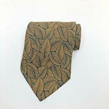 Giorgio Armani Cravatte Brown Floral Design Silk Necktie