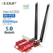 EDUP WiFi 6 Card 3000Mbps PCIe Network Card AX200 2.4Ghz/5.8Ghz Bluetooth 5.0