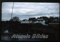 1950s red border kodachrome Photo slide Steam Locomotive Railroad Train
