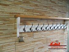 Cast iron hooks Wooden Coat Hooks With Shelf