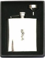 Cow Boy Design Stainless Steel Hip Flask Gift Free Engraving