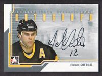 2013-14 ITG Decades 1990s Autograph #A-AO Adam Oates Auto Boston Bruins