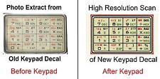 Accessory for: Casio CFX-40 & CFX-400 Self-Adhesive Vinyl Keypad Image Decal