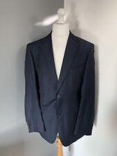 """Men's Hugo Boss Chest 44"""" - Linen Blend Navy Blue Jacket Blazer Smart Formal"""