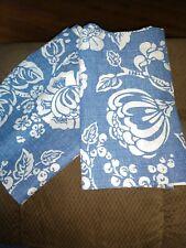 "Set Of 2 Blue Floral Balloon Valance Curtains 68""X14"" Each"
