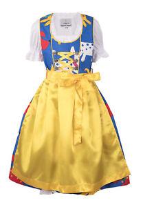 Melena Kinderdirndl Dirndl Mädchen Trachtenkleid Set 3-tlg mehrfarbig Hunde