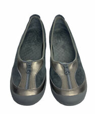 Privo By Clarks Womens Shoes Flat Comfort US Size 11 M Gray Suede Leather Upper