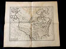 NORTH AMERICA MAP 1772